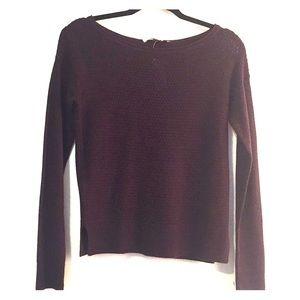 NWT XS Loft Eggplant Color Sweater Top